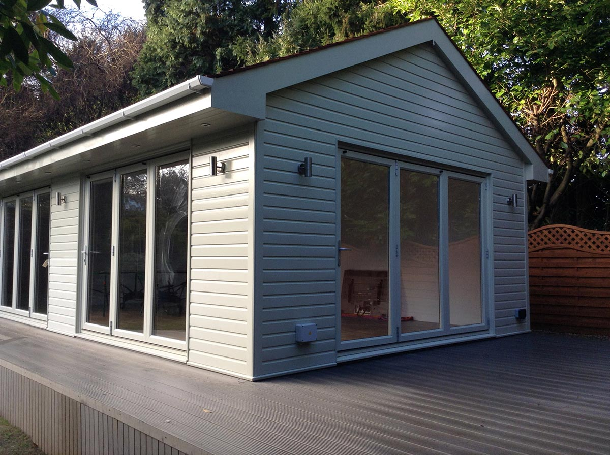 Garden offices construction surrey london home counties for Outdoor office building